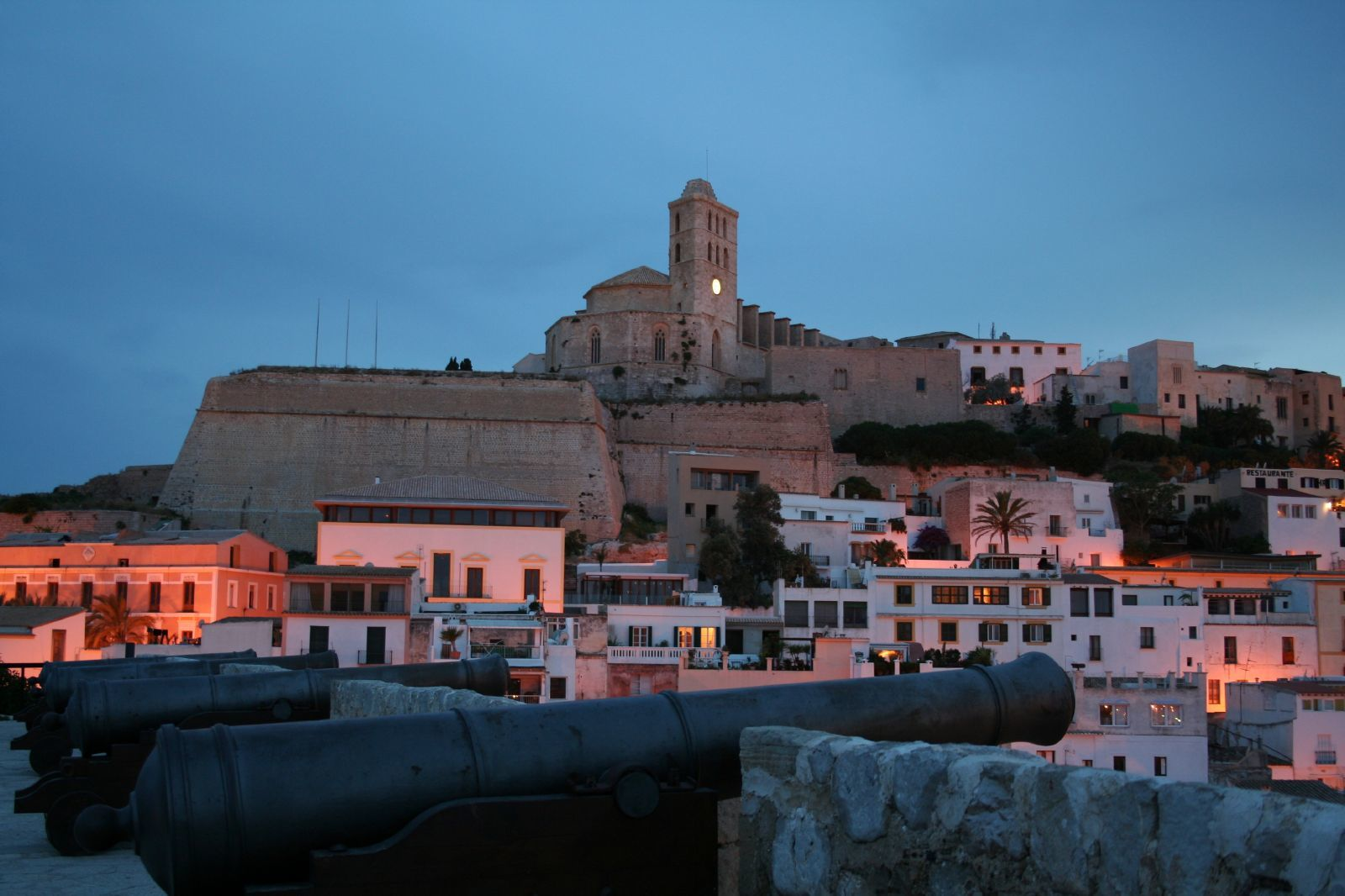night view of ibiza