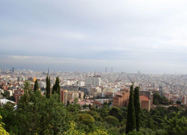Panoramic view city of Barcelona