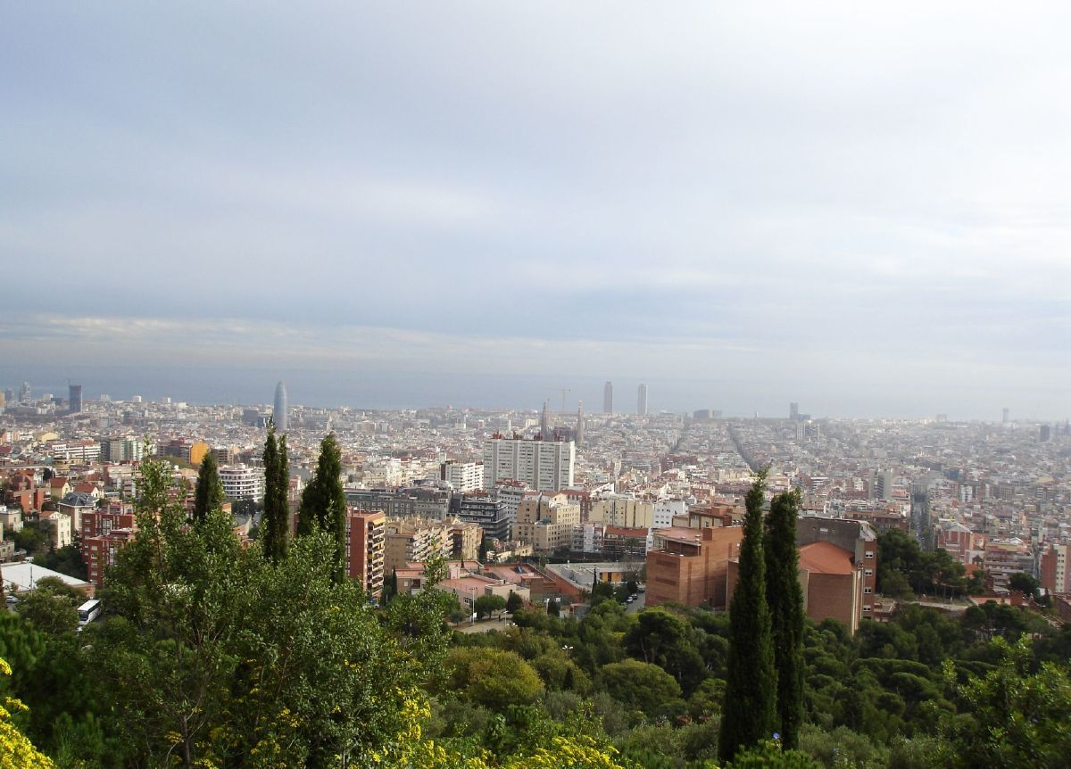 Panoramic view city of Barcelona