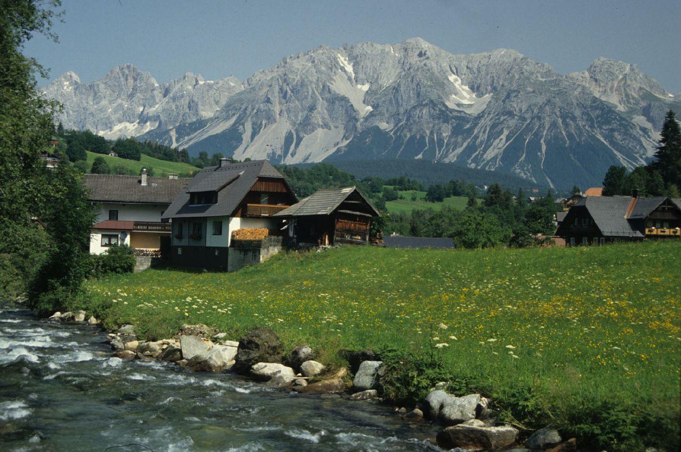 Postcard Landscape swiss alps