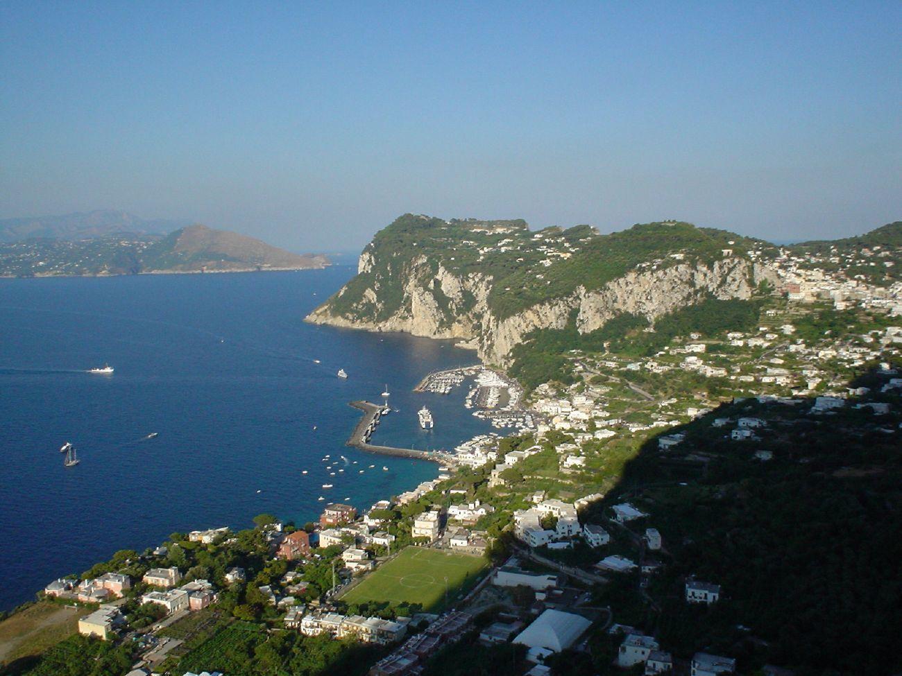 panoramic view from capri to italy