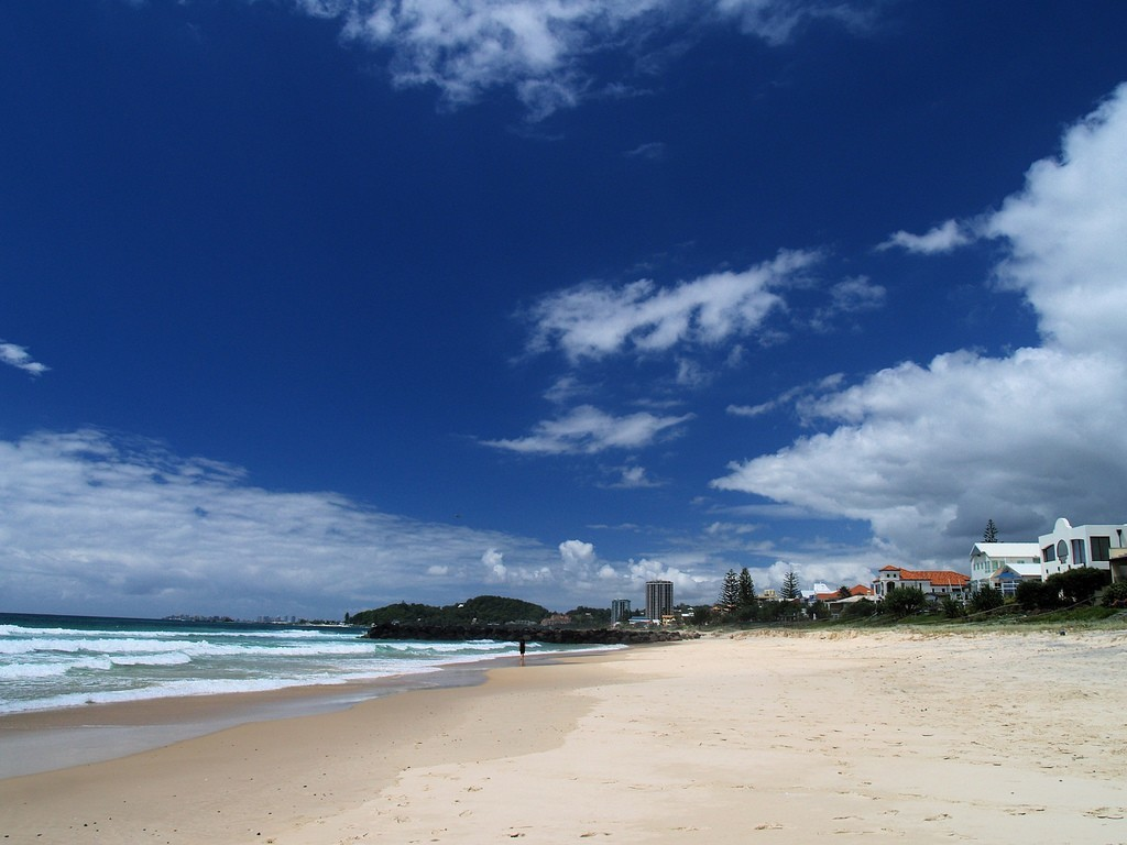 the beach of gold coast