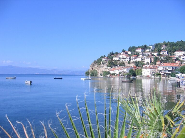 ohrid lake and the town of ohrid