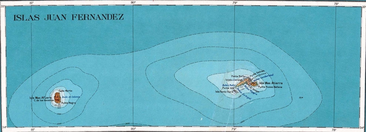 juan fernandes islands map