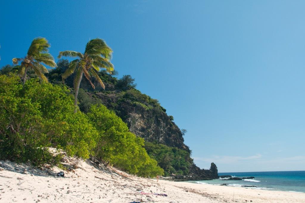 lonely beach fiji