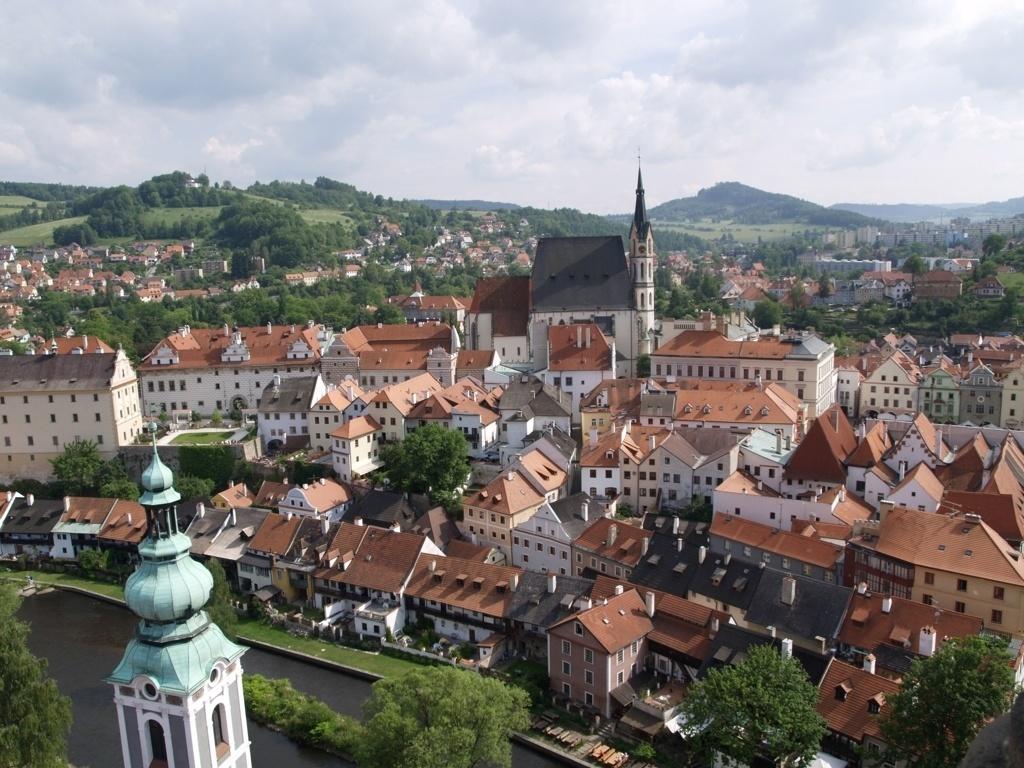 prague from above czech republic