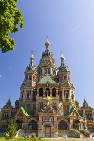saint peter and paul church peterhof saint petersburg