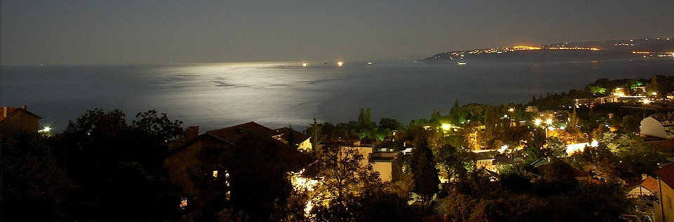 Varna Bay at Night