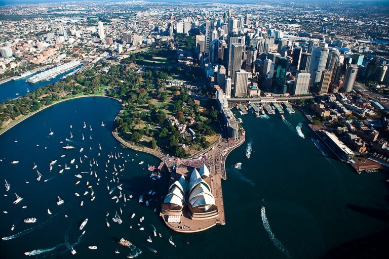 The city of Sydney from above