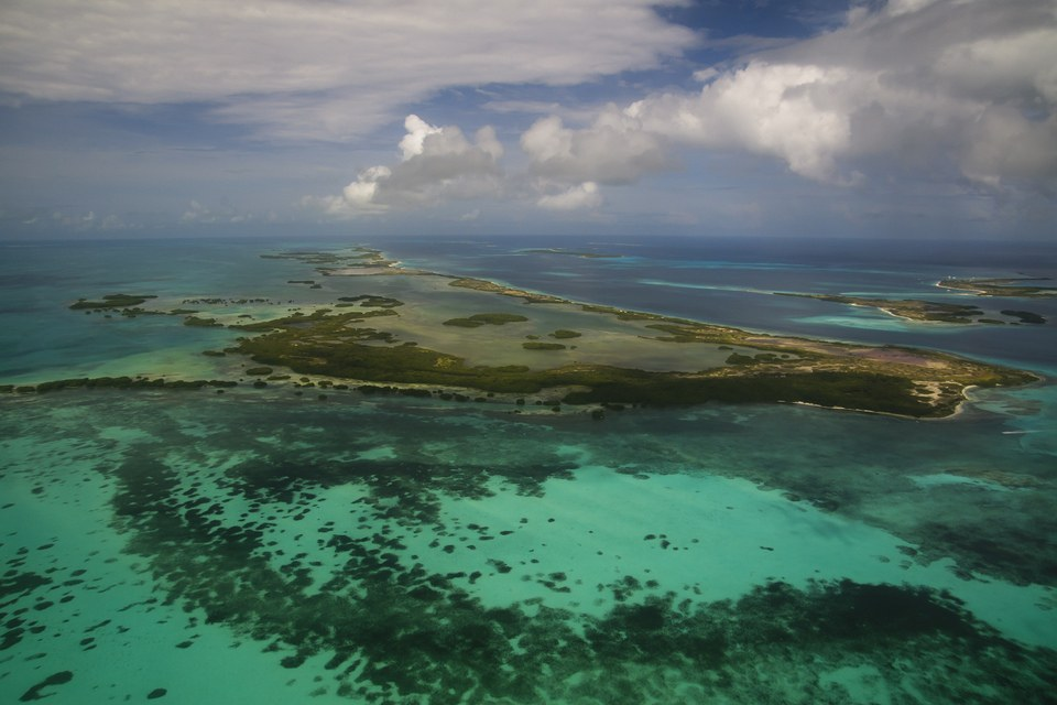 Aerial View of Archipelago Los Roques