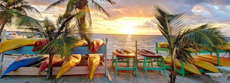 Ocean Sunrise Blackbird Caye, Belize