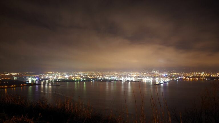 Night view of Varna