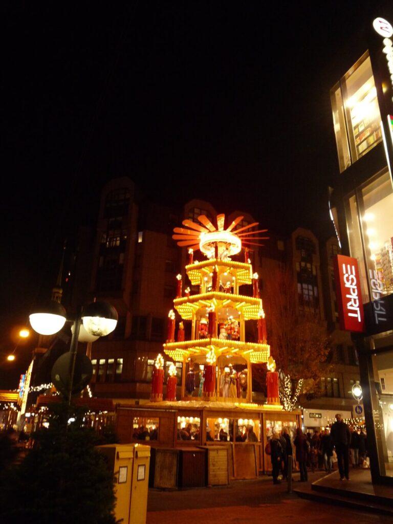 dortmund christmas market at night