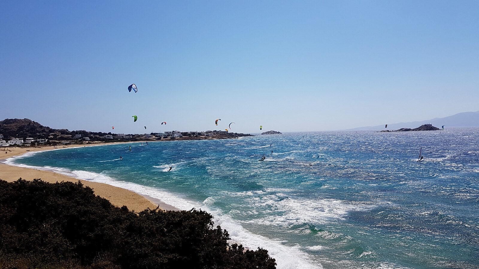 kitesurfing at mikri vigla