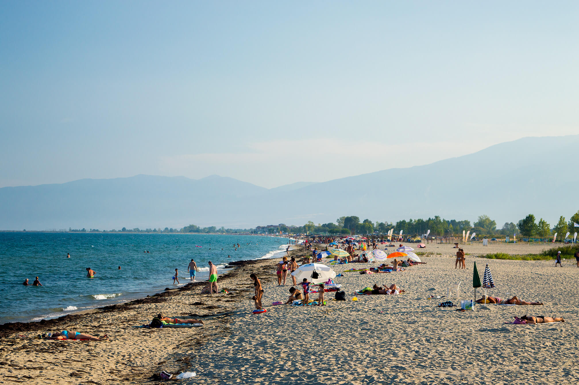 the southern beach of paralia
