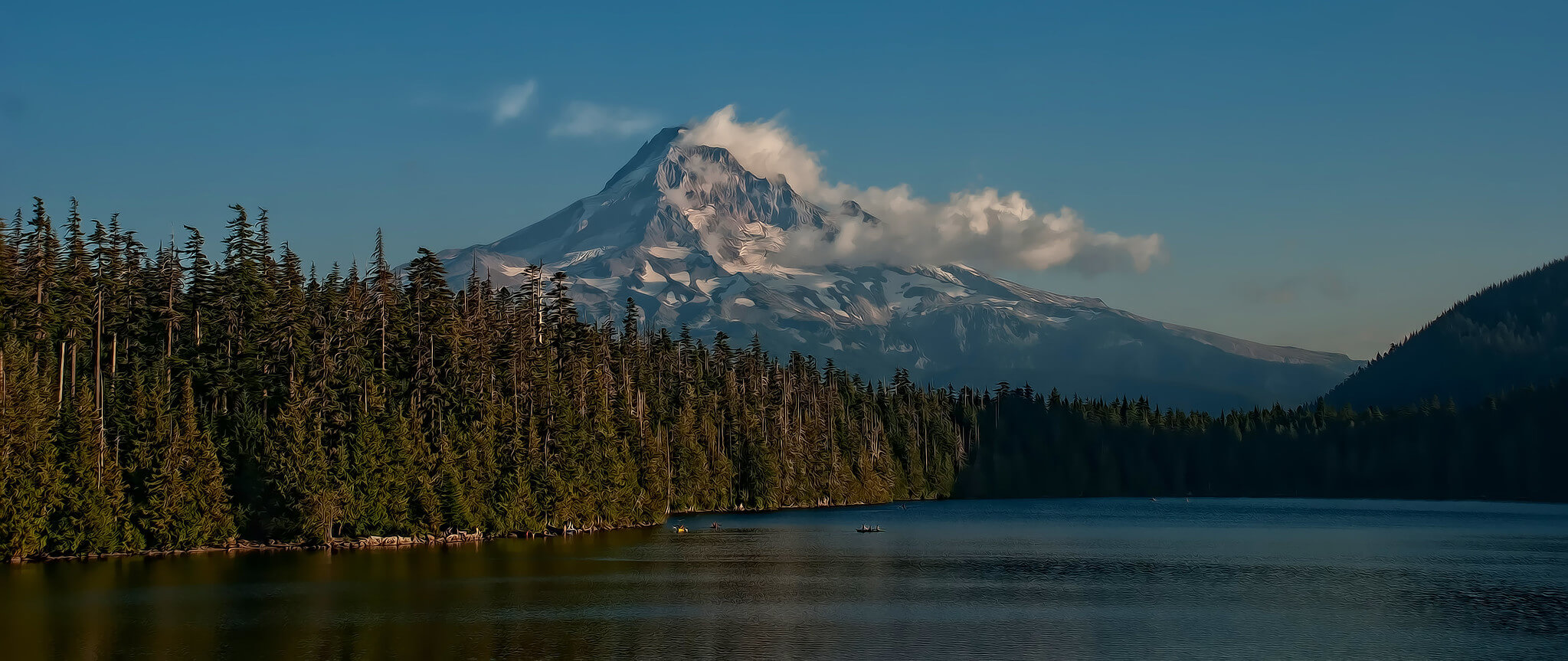 lost lake and mt. hood in the background